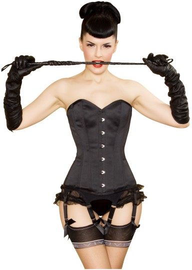 Dita corset in black satin, £89.95
