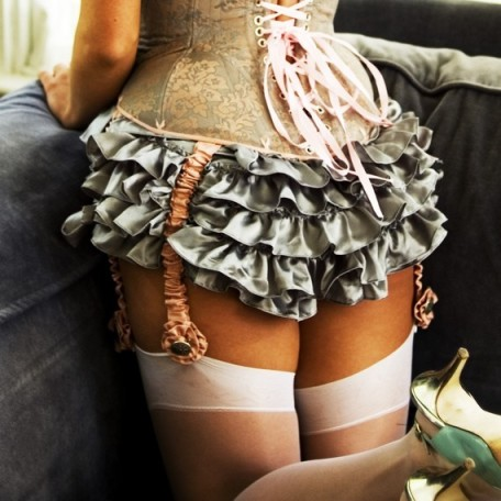 Angela Friedman's Ruffled panties in silk are absolutely lovely. I want this aesthetic and this much frills!