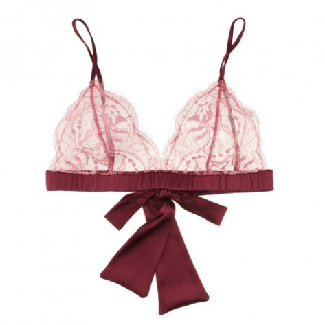 Fleur of England Berry Kiss boudoir bra. I love the lace and the color!