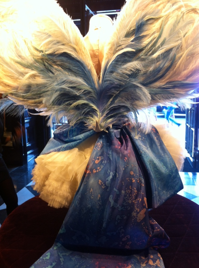 The back of the wings worn by Doutzen Kroes in 2011 in the Ballet section