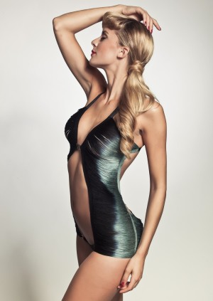 Not Ariel. Made by Niki's string playsuit is a beauty under or over the seas!
