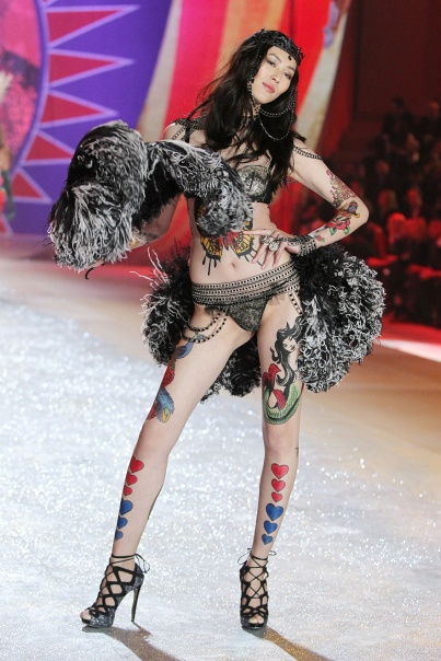 "Liu Wen, 2012. Not exactly nice to put ""exotic"" models in ""exotic"" costumes, but she absolutely rocked it."